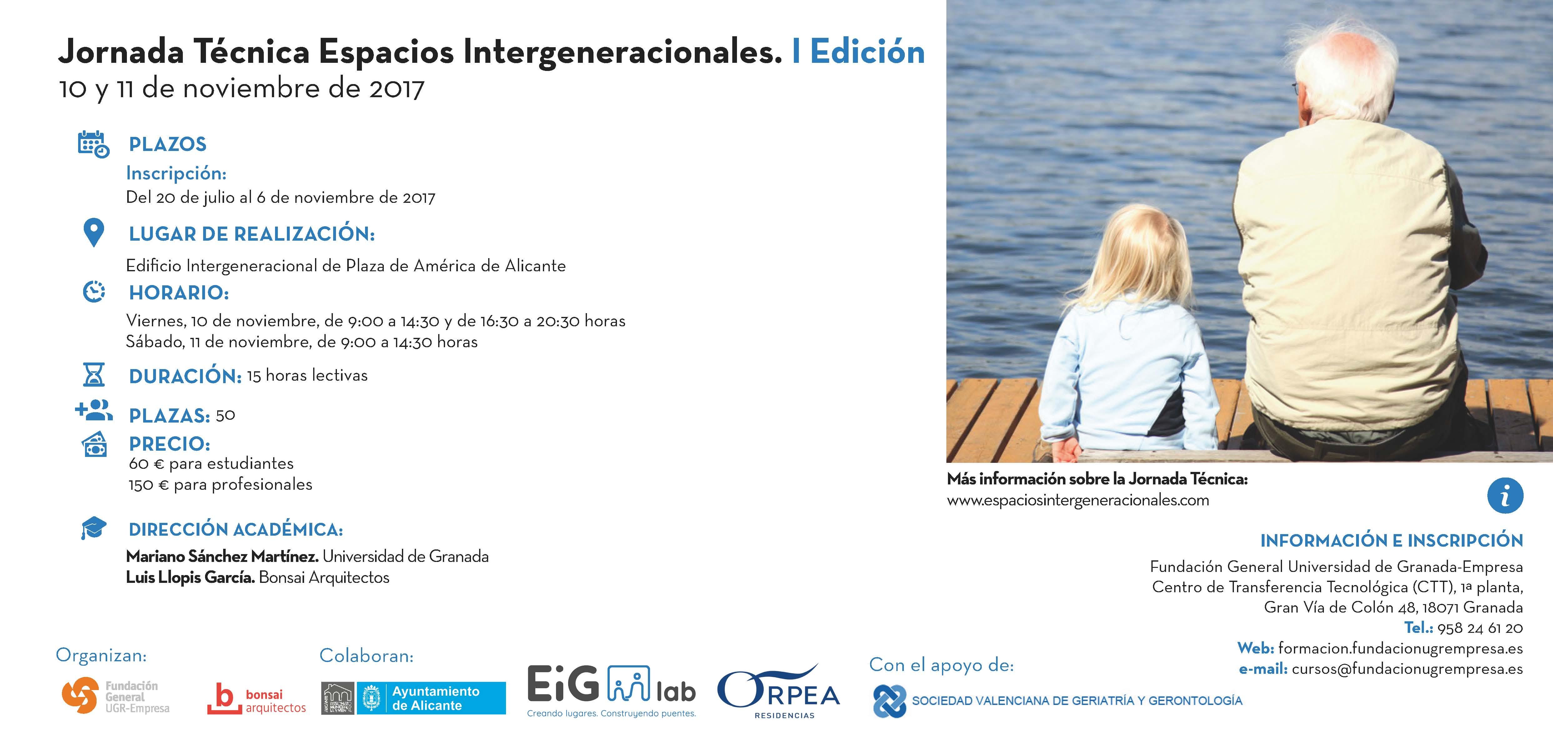 Jornada Técnica Espacios Intergeneracionales Noviembre 2017 - Enlace descarga Flyer
